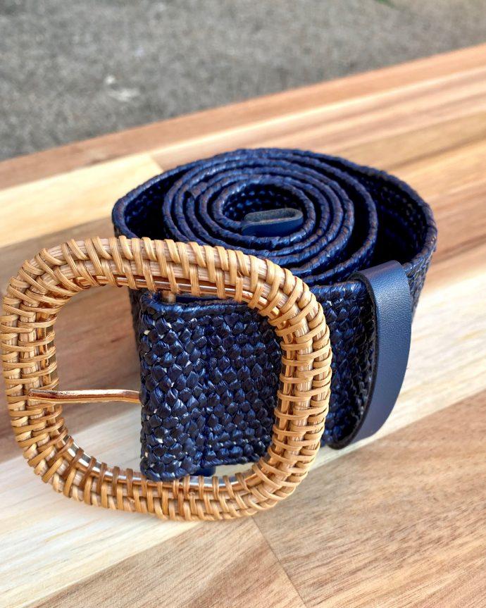 Navy Stretchy Belt